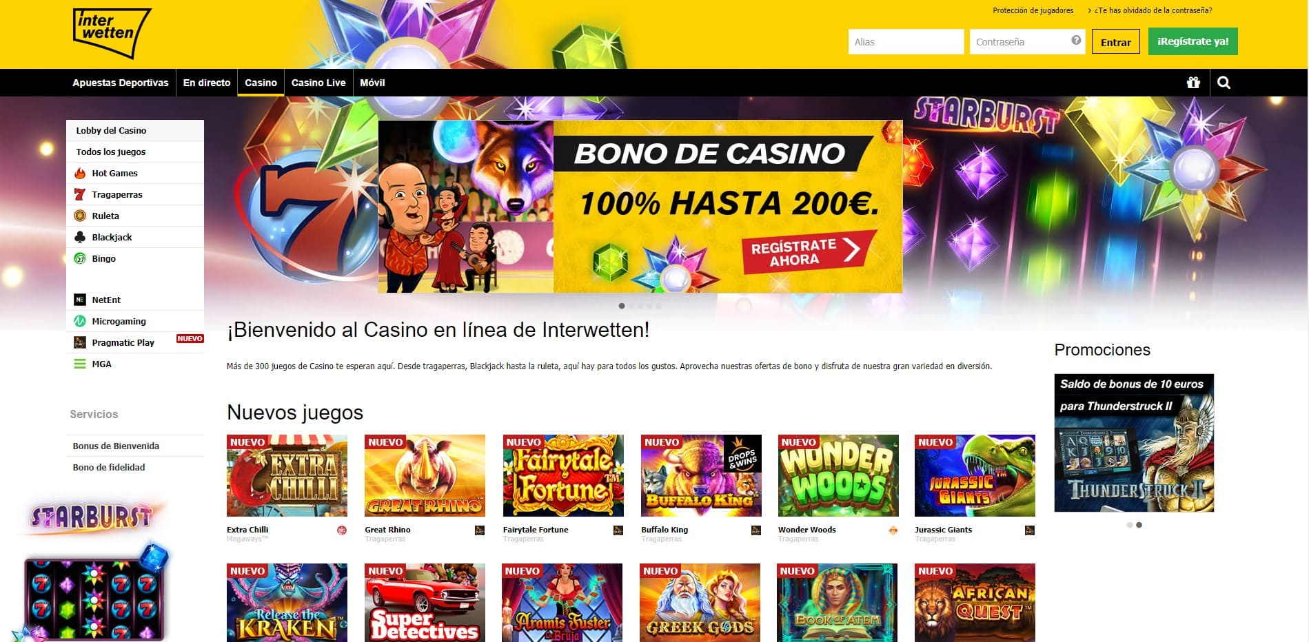 Interwetten Casino Serios